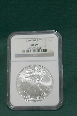 2009 US American Eagle Silver Dollar Coin MS69 NGC $1 1 oz Fine Graded Bullion