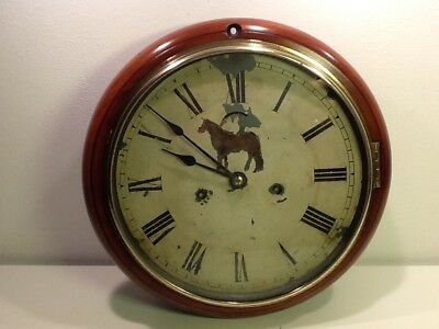 Antique Seth Thomas American Wall Clock, 1896, Mahogony Casing