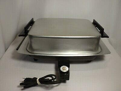 MIRACLE MAID LEKTRO Electric Skillet Fry Pan 13669 West Bend   w/Cutting Board