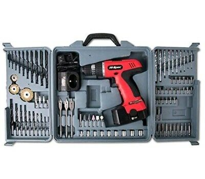 Cordless Power Drill Set Driver With Case Battery Charger Screw Bit Kit Combo