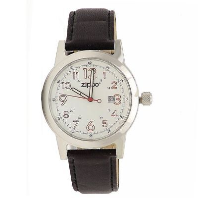 c41d3cc17 ... Zippo Watch White Face Black Leather Band Casual Watch New !! 9