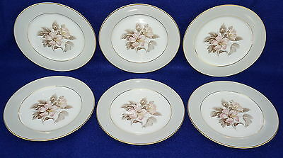 Noritake Stanwood #5445 Lot of (6) Dessert or Bread & Butter Plates 6 1/4""