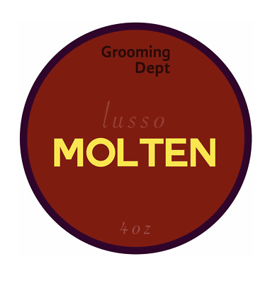 NEW, Grooming Department Dept. LUSSO Base, MOLTEN Shaving Soap, 4oz