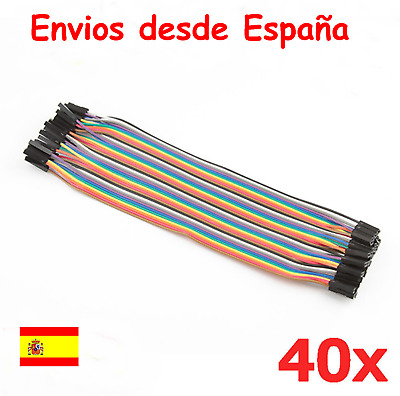 Cables 20cm Hembra Hembra jumpers dupont 2,54 arduino protoboard