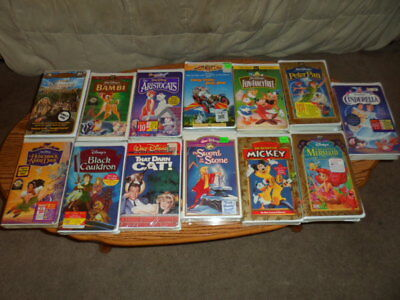 Disney Collection VHS Videos 40 New unopened & Opened tapes