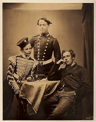 GRENADIER GUARDS: CACTIN JACOBS & TOMMY COULTER * Rare VINTAGE c1850s Photograph