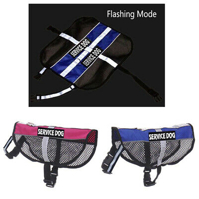 Reflective Nylon Service Dog Mesh Harness Vest & 2 Patches For Small Large Dogs