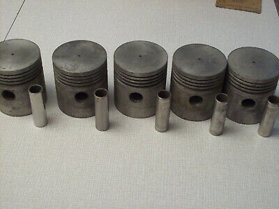 NOS Zollner heavy duty pistons x5, 412-A, heat treated, IHC, Allis Chalmers