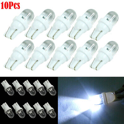 10Pcs Car 12V 5W T10 194 168 158 W5W 501 White LED Side Wedge Light Lamp Bulb