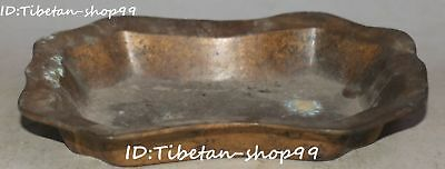Da Qing Year Old China Pure Bronze Ancient Dynasty Fruit Candy Sweety Dish
