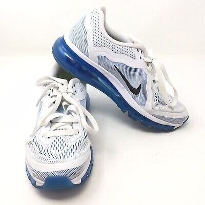best website 3486d 6be8c NIKE AIR MAX 2014 White Blue Womens 621078-104 sz 7.5 Sneakers Shoes O3A