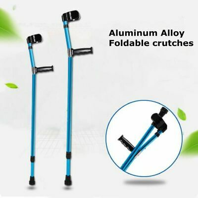 Aluminum Alloy Height Adults Foldable Heavy Duty Walking Forearm Crutches Stick