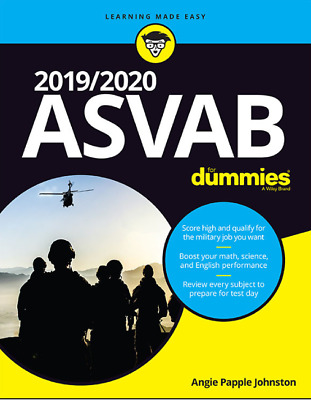 2019/2020 ASVAB For Dummies 1st Edition (Paperback) Angie Papple Johnston