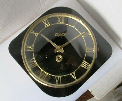 Beautiful Black and Gold Timber Wall Clock from BAYARD with Key