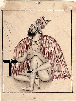 Super Fine Miniature Art Beggar Hand-painted on old Paper Persian Painting