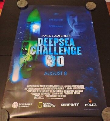 National Geographic James Cameron's DEEPSEA CHALLENGE 3D 27X40 DS Movie Poster