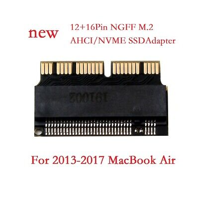 M.2 AHCI NVMe SSD M Key Converter Adapter for MacBook 2013-2017 12+16Pin