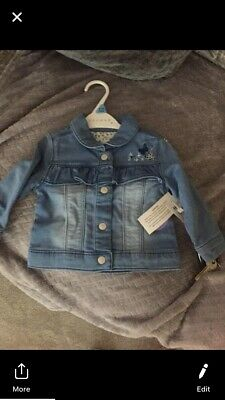 Gorgeous baby girl denim jacket 9-12 Months, Brand New With Tagsz