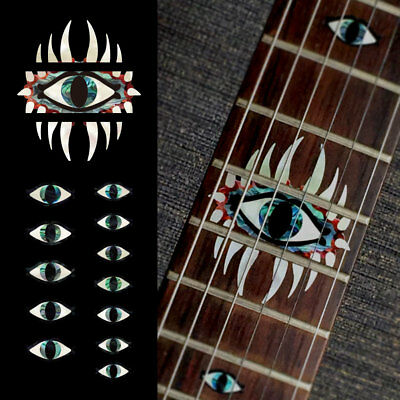 Inlay Stickers Decals Mystic Eyes Emblem 12th Fret Markers Set For Guitar