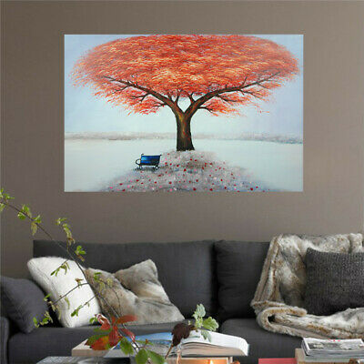 *Maple* Hand Painted Oil Painting Stretched Canvas Wall Art Home Decor Framed