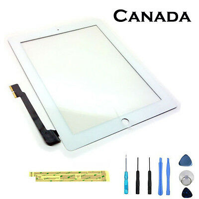 Replacement Touch Screen Glass Digitizer For Apple iPad 3 & 4 White CA Seller