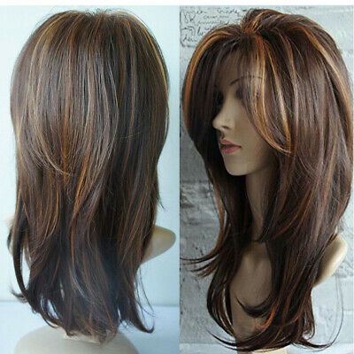 65cm HOT Sexy Women's Fashion Wavy Curly Long Hair Full Wigs Cosplay Party Wig