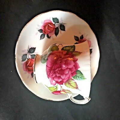 Paragon By Appointment teacup and Royal Kent Bone China Saucer Red Rose