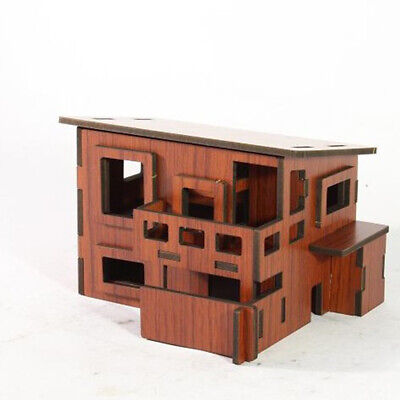 DIY Model Wooden Building Blocks Assembly Toys 3D Puzzle House Toy Gift Kid B