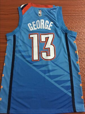 hot sale online 08f68 9de5e NWT Oklahoma City Thunder Paul George  13 mens jersey S-2XL