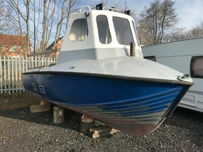 18ft ex RNLI McLachlan class Lifeboat good fishing angling cruiser GRP project