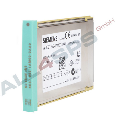 Simatic S7, Ram Memory Card Fuer S7-400, 6Es7952-1Am00-0Aa0