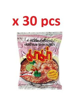 30pcs x 55g Mama Tom Yum Kung Shrimp Noodle wholesale lot sour spicy cream soap