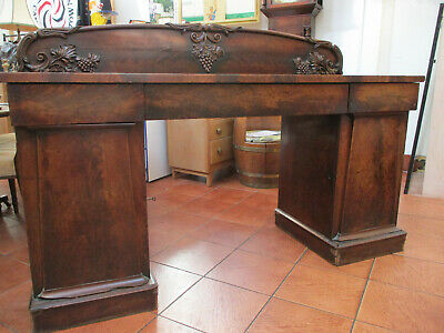 Antique Georgian William IV Chiffonier Sideboard In Mahogany TO CLEAR