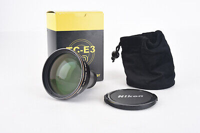 Nikon TC-E3 ED Telephoto Converter Lens for Coolpix in Box with Case MINT V89