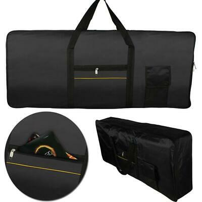 61-Key Keyboard Electric Piano Case Gig Bag Advanced Fabrics Black