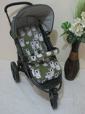 Handmade pram liner set-Large koalas-100% cotton*Funky babyz,SALE*
