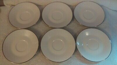 Noritake Ivory Affection set of 6 teacup saucers plates only