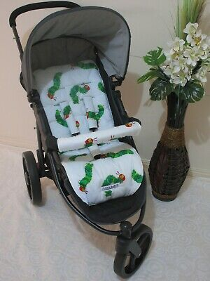 Handmade pram liner set-The hungry caterpillar-100% cotton*Funky babyz