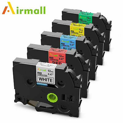 5PK TZe231 Compatible with Brother P-Touch 631 731 Mix colors Label Tape 0.47in