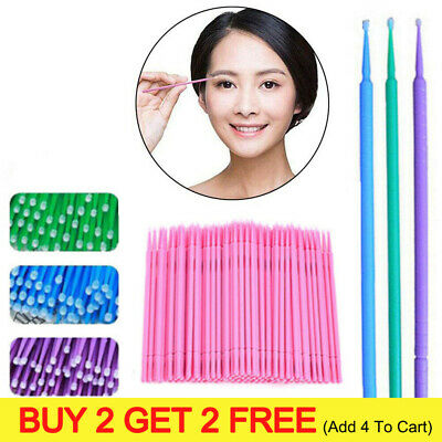 400Pcs Disposable Eyelash Swab Applicator Micro Brush Mascara Tool Extension