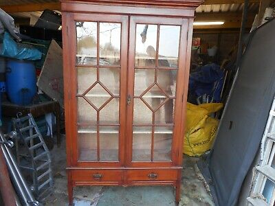 Late Victorian Mahogany Display Cabinet/Bookcase
