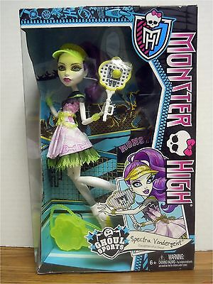 Spectra Vondergeist Daughter Of The Ghost Ghoul Sports Monster High Doll New