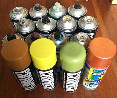Older Aussie Crunch Paint Spray-Cans - New Old Stock BULK LOT of 16