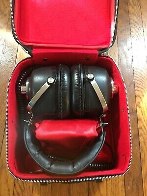 Vintage TTC Japan G3500 2-Way Stereo Headphones With Travel Case