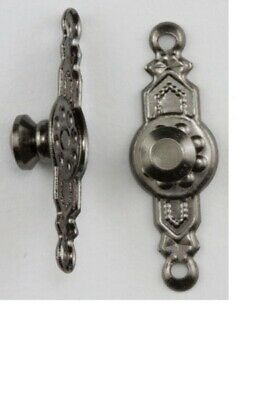 Dollhouse Miniatures 1:12 Scale Colonial Door Knob, Pewter, 2 Pk #CLA05512