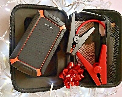 Sakura 7500mAh Jump Starter/ Powerbank Slim -USB, Charge Indicator, Torch, Case