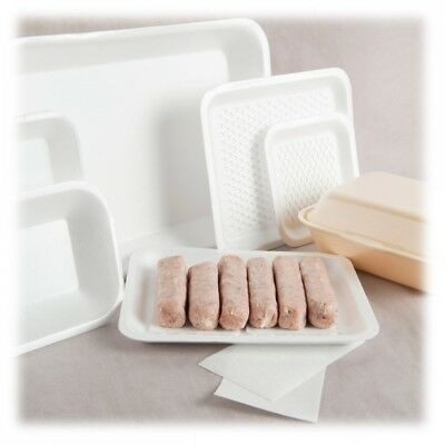 Multiple Size EPS Chip Trays Polystyrene Foam Food White Takeaway BBQ