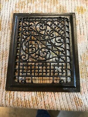J 1 Antique Cast-Iron Heating grate face 11.75 x 9.75