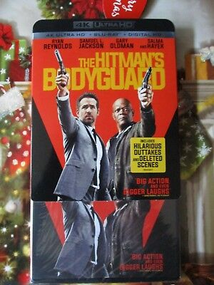 NEW Sealed Hitman's Bodyguard 4K Ultra UHD Blu Ray HD Digital Ryan Reynolds