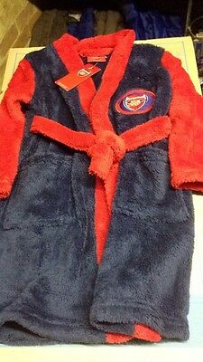 Boys Girls Arsenal Football Robe Dressing Gown Fleece Age - 3/4 Years